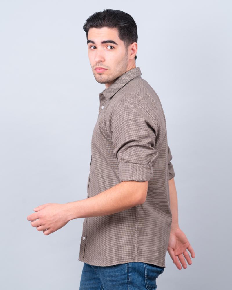 Koszula brązowa w pepitkę 8